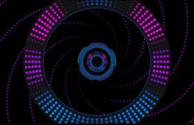 粒子圆环空间循环放射高清唯美科技LED视频素材