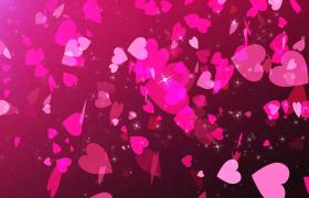 愛心紙片夢幻飛揚閃爍星星靚麗點綴MP4情人節戀愛視頻素材