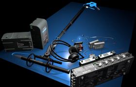 整套录音棚电子音响合成器音乐制作电子产品设备C4D工程模型