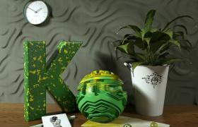 C4D植物工程模型:室内艺术设计布局高品质渲染桌面摆件(含贴图)