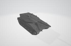 現代陸地作戰履帶式裝甲戰斗車輛世界一流信息化坦克C4D模型展示