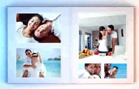 七夕情人節浪漫甜蜜婚禮精美折疊翻頁相冊3D效果AE模板