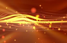 金色粒子線條循環波動光效舞臺led背景視頻素材