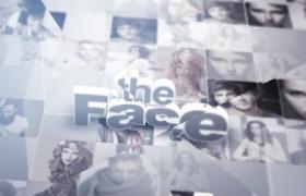 当代时尚人物面孔图文展示栏目片头包装AE视频模板