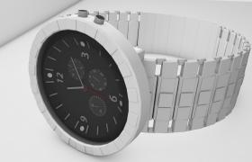 C4D工程预设:高品质韩版时尚立体男士机械手表模型(含贴图)