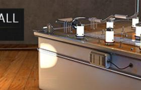 电子科技产品青少年玩具插电式弹球机C4D模型(含贴图)