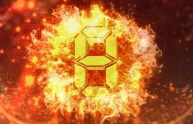 橙色粒子震撼洋溢烈焰扩散数字演变黄金10秒倒计时视频