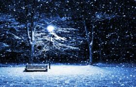 唯美雪景下雪舞臺無縫循環播放led背景視頻素材