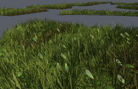不同種類植物及幾何外觀造型的C4D城市綠化草坪模型合集(含單個獨立模型)