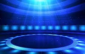 高清旋轉圓形燈光秀節目演出舞臺led背景視頻素材