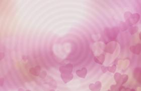 白色動態圈暈粉色愛心浮動HD甜蜜情人節視頻