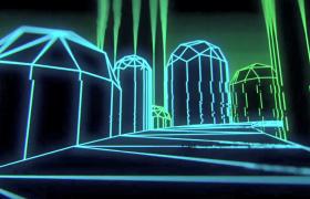 光线城市奇幻穿梭科技风格呈现MP4特效片头视频