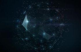 粒子闪烁科技连线科技风PPT背景图片素材下载