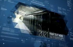 高科技商务图文内容空间感数据时间年度三维效果AE模板