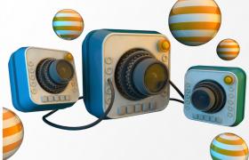 日式可愛攝影風格動畫場景カメラ兒童相機C4D工程渲染模型(oc渲染)