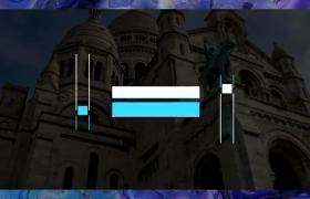 梦之蓝极简动态公司活动图文排版文字字幕标题动画AE模板