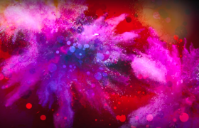 彩色烟雾精彩喷洒梦幻光斑唯美点缀特效视频素材下载