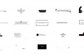 现代优雅风格20个引用符号名言警句文字标题黑白动画AE模板
