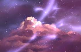 彩绘云层梦幻漂浮粒子光影炫丽飞舞MP4特效视频素材