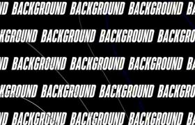 黑白大气音乐韵律文字标题动画排版布局节拍AE模板