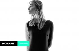 当代时尚广告图片独特注释字幕条内容开场AE模板
