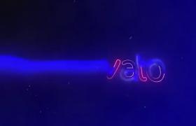震撼霓虹灯LOGO标志动画电流轮廓毛刺效果AE模板