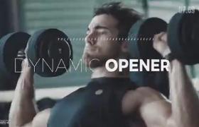 酷帅体育俱乐部影像作品集宣传信息干扰效果AE模板