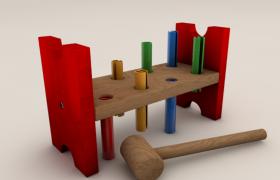 开发大脑及反应速度的益智类儿童卡通玩具C4D模型(含材质贴图)