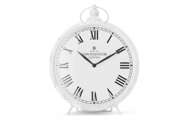 欧式复古罗盘时钟纯白色家居室内摆件C4D模型
