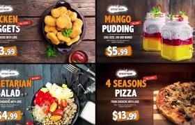 酒店咖啡厅食谱美食促销INS营销预告宣传片AE模板