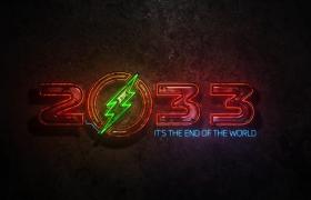 LOGO演绎电影游戏霓虹灯电流铁锈辐射发光效果AE模板
