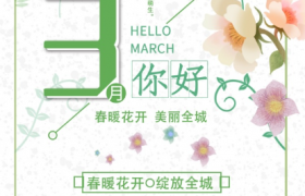清爽绿色打底美丽雏菊唯美点缀春季上市PSD平面宣传海报