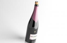 宴會佳品葡萄酒之王Champagne馬德里皇家香檳C4D模型(vary渲染)