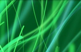 清新绿色荧光线条生长HD特效视频素材