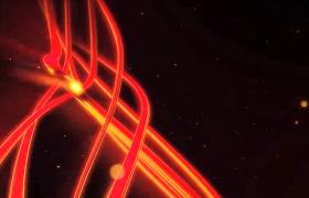 三维神秘空间炫红光线华丽轨迹运动HD特效视频素材