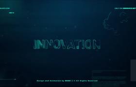 科技标志揭示全息HUD线条科幻数字文字标题片头AE模板
