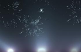 粒子烟花灯光旋转浪漫舞台背景LED视频素材