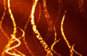 金色粒子飘浮大气震撼颁奖典礼背景视频素材