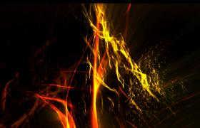 金色飘带梦幻极光视觉浪漫大气舞台背景视频素材