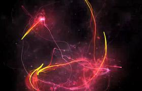 炫彩神秘光线黑色空间炫丽飞舞HD特效视频素材