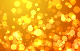 金色圆形粒子飘浮唯美浪漫婚礼舞台背景视频素材