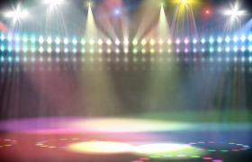 七彩炫光舞台灯光秀聚光灯射灯舞台led背景视频素材