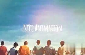夏日回憶旅游影像作品集圖形動畫漏光效果AE模板