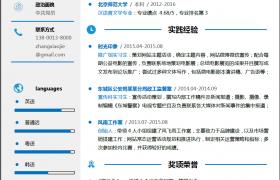 蓝色层次社会化媒体运营推广求职应聘简历world模板