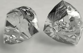 立方结构的白色透明晶体专属定制私人钻石C4D模型展示