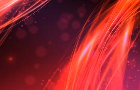 紅色粒子線條唯美綢緞視覺舞臺背景視頻素材