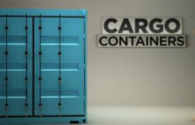 大型装货集装箱容器货物转运工业物流设备C4D模型container