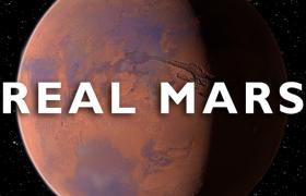 科幻太空模型太陽系往外第四顆行星lib4d高精度火星模型預設