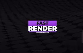 圆形阵列蒙版25个迷你粗体白色文字标题动画AE模板