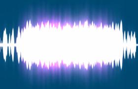白色音波大氣演繹浪漫音樂演出舞臺背景視頻素材